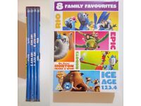 Eight family DVDs