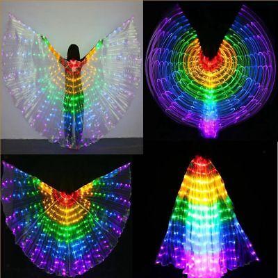 LED Isis Wings Bauchtanz Luminous Performance Tanzen Kostüme Egypt (Tanz Performance Kostüm Kinder)