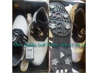 Mens ADIDAS White & Black Golf Shoes *NEW BOXED* with tags