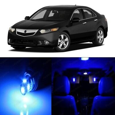 16 x Blue LED Interior Lights Package For 2009 - 2014 Acura TSX + PRY TOOL