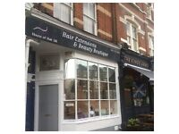 Luxury hair salon 1 chair to rent Ealing W5