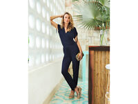 navy tie detail jersey jumpsuit from pure collection bnwt size 12 rrp £99