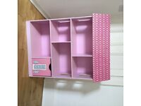 GLTC Dollshouse book shelf with secret roof compartment