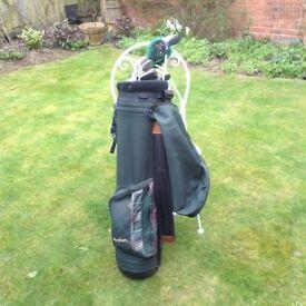 MacGregor Golf Bag, excellent condition, plus clubs, balls, etc.