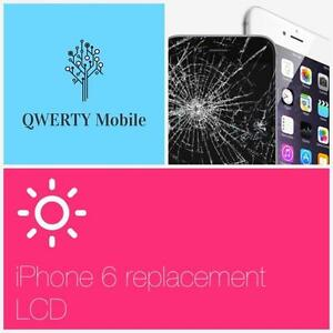 iPhone 4/4s/5/5s/5c/6/6+ repair service /cracked glass/bad unresponsive LCD/call now-514-713-7264 Laval