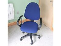 Fully Adjustable Blue Office Swivel Chair Furniture Business Comfortable