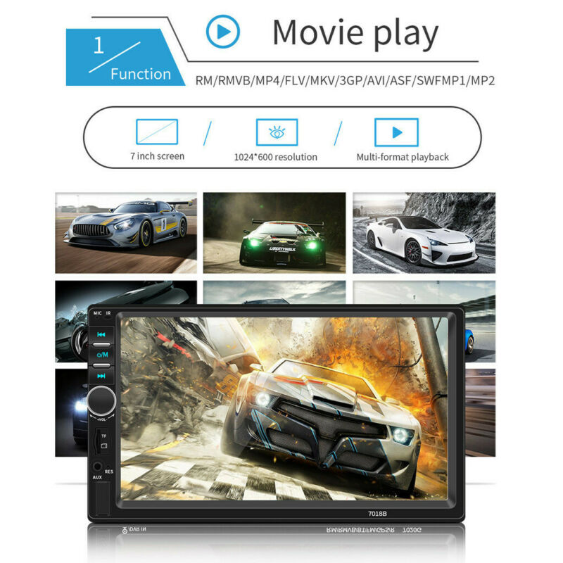 """7.0"""" Double Touch Screen Car Player FM +Camera"""