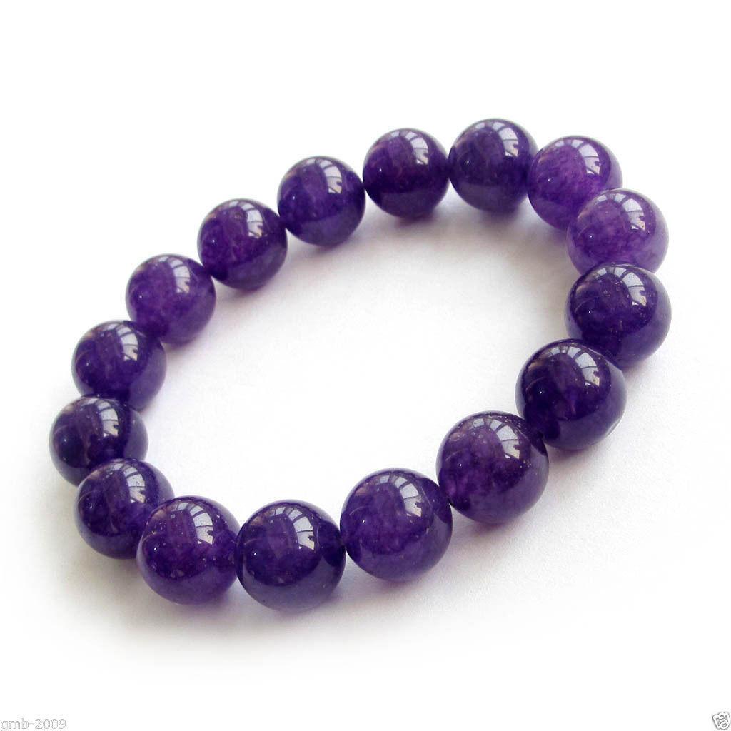 AAA Beautiful Natural 8-12mm Purple Sugilite Round Beads Earrings