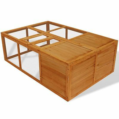 Foldable Wooden Animal Cage Outdoor Chicken Coop Rabbit Hutch Pet Habitat Run
