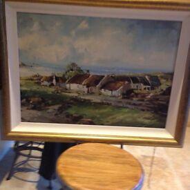 Irish cottage scene landscape