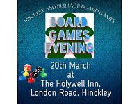 Hinckley and Burbage Board Games evening