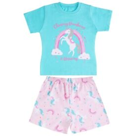 Girls & Boys PJ Sets With Shorts and Tops. New In Packaging. Only Sizes Listed Available. From £2.25