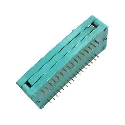 32-pin 32p Zif Ic Test Dip Tester Socket 2.54mm Pitch Narrow Body Green