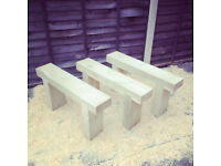 benches ready for the summer. new.