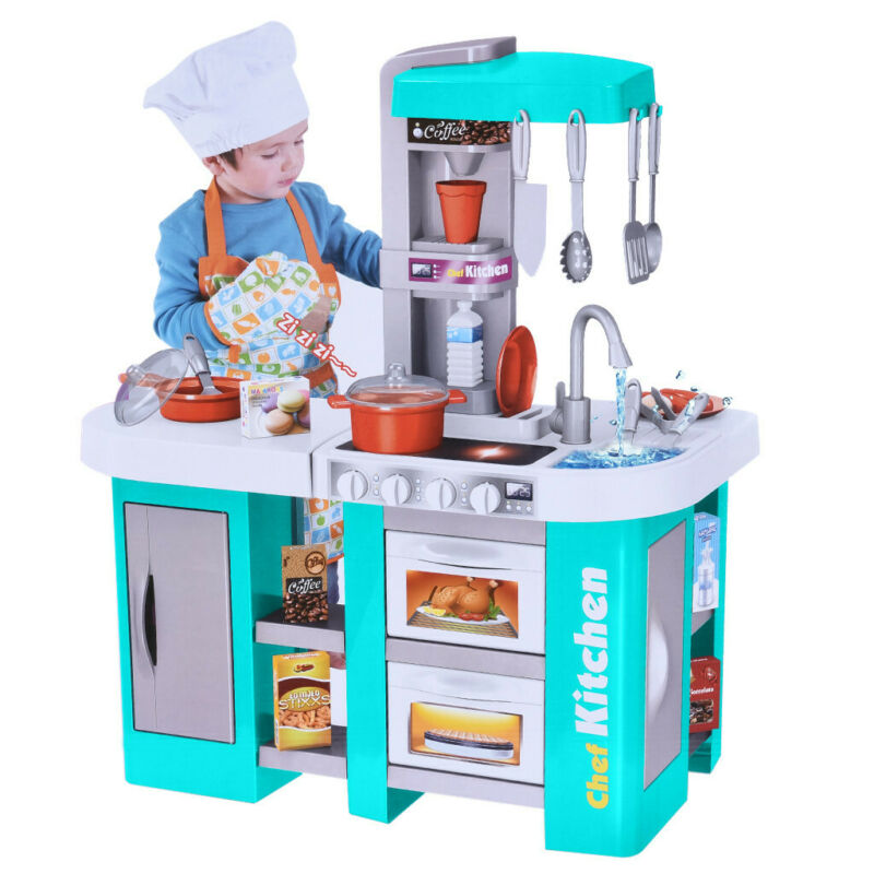 Kids Kitchen Playset With All The Sights And Running Water S
