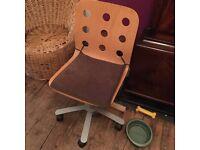 Ikea wooden swivel office chair