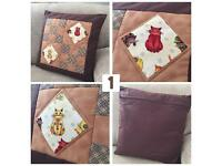 Homemade Patchwork Cushions