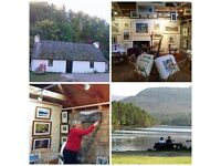 Sales and Countryside Information Assistant. Loch an Eilein gallery and shop.