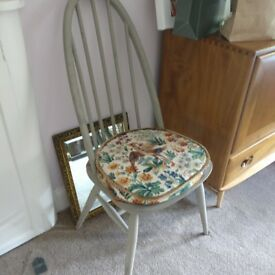 Ercol chair Painted (with label intact) Quaker Ercol chairs ..pair...