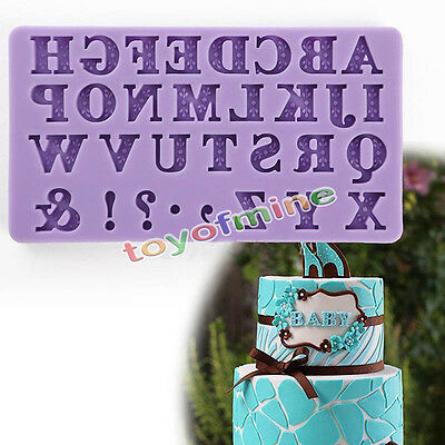 3D Alphabet Letter Silicone Fondant Mold Cake Chocolate  Cutter Mould