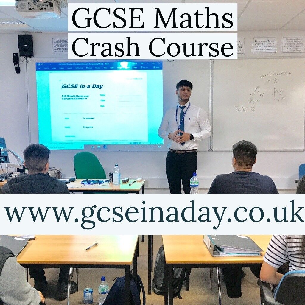 GCSE-in-a-Day Maths Crash Course | in Oadby, Leicestershire | Gumtree