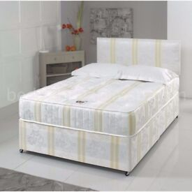 SUPREME QUALITY - NEW DOUBLE AND KING DIVAN BED BASE WITH POCKET SPRUNG MATTRESS - SAME DAY DROP