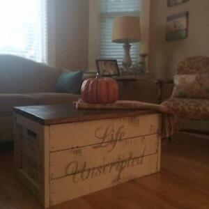 RUSTIC  STORAGE CRATES/COFFEE TABLES