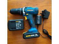 Work Zone Combi Drill 18v Li-ion Brand New