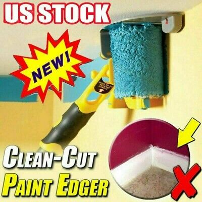 Paint Edger Roller Brush Tools Portable Clean-Cut Brush for Home Wall Ceilings