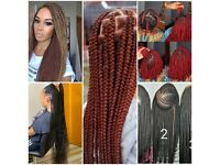 AFRO HAIRDRESSER●BRAIDS ●SENEGALES TWIST●KNOTLESS B●NATURAL HAIR ●CROCHET● WEAVES ● BRAZILIANKNOTS
