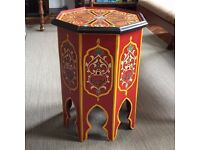 Very pretty hand painted Moroccan tea table