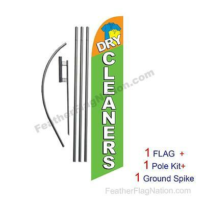 Dry Cleaners Feather Banner Swooper Flag Kit With Pole Spike