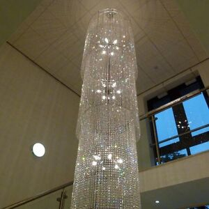 stairwell lighting. stairwell huge 5 metre lead crystal glass chandelier chandlier chandalier lighting n