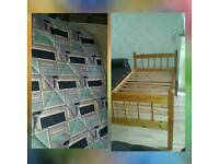 Single Bed with mattress ( delivery available)