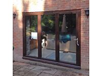 Engineered Hardwood Timber Bi-Fold Doors, Glazed - DIRECT FROM UK - THE FOLDING SLIDING DOOR COMPANY
