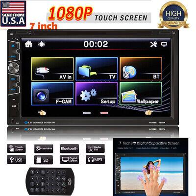 7'' Double 2Din Built-in Car CD DVD MP5 Bluetooth Radio USB SD HD Touchscreen