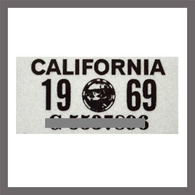 1969 California Yom Dmv Motorcycle License Plate Sticker   Tag Ca   1963 Plate