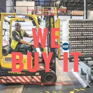 WANTED : We Buy All Warehouse Equipment & Racking