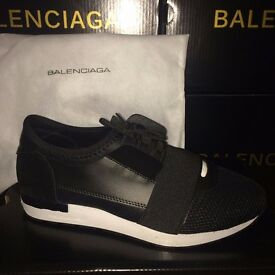 Ladies Balenciaga Runners Size 6 with dust bag and box