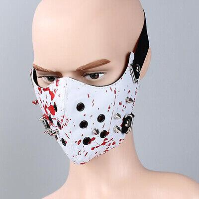 Punk Gesicht (Steampunk Halbe Gesichtsmaske Gothic PU Leder Staubmaske Motorradreiter)