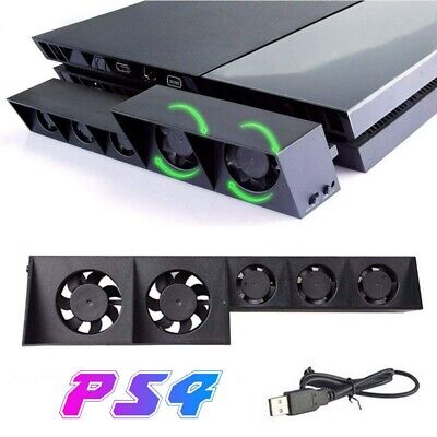 PS4 Cooling Fan External USB Cooler w/Auto Temperature Controlled Radiator