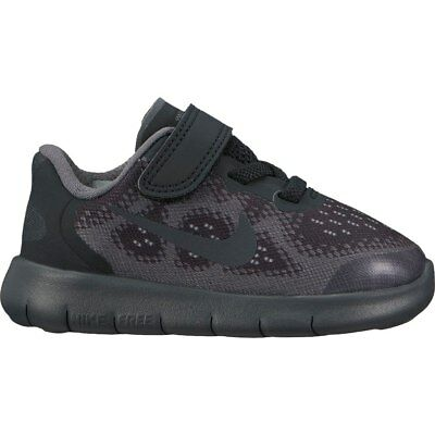Boys' Nike Free RN 2017 (TD) Toddler Shoe Black/Anthracite-dark grey #904257-001 - Dark Black Teens