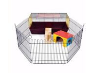 Little Friends Rabbit/Guinea Cage with Run