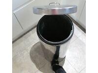 30 litre Brabantia stainless steel chrome kitchen bin