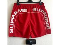 Supreme ARC logo water shorts! Medium in RED!