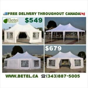 For Sale | 30x20 • 22x16 • Decagonal • Octagonal Wedding Party Marquee High Peak Tent | From $549