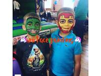 Face Painter face painting body art glitter tattoo glitter tattoos bouncy castle soft play