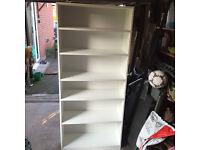 Virtually brand new white book case