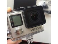 Mint Condition GoPro Hero 4 Silver - Built in touch display