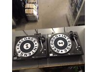 2 X Technics SL1210M3D Professional DJ Turntables - Used